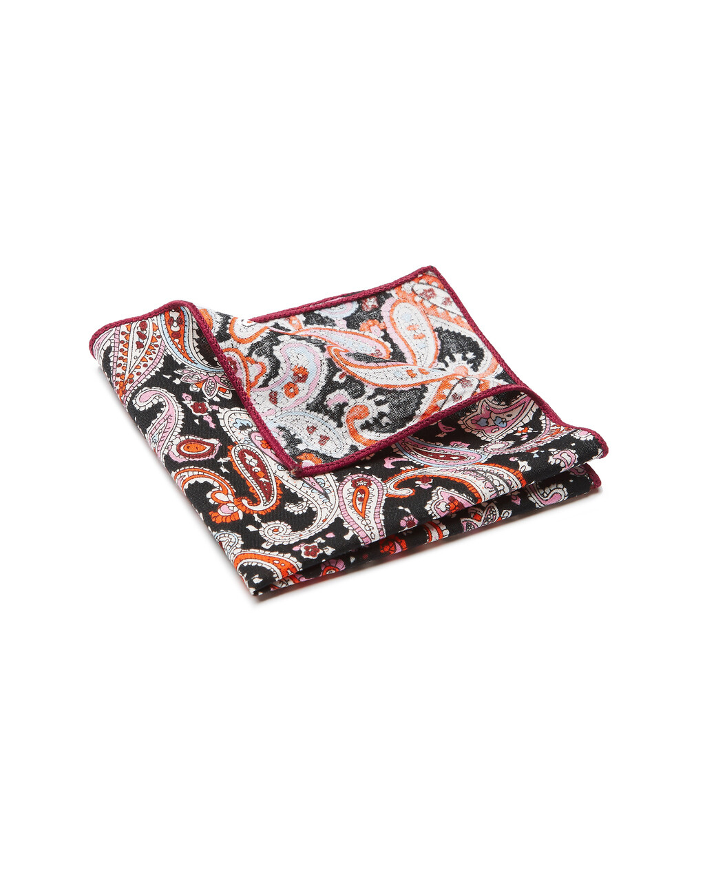 Pocket Square, Paisley, Pink