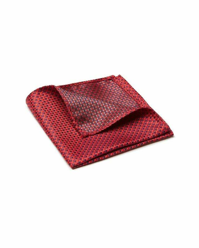 Pocket Square, Cross, Red