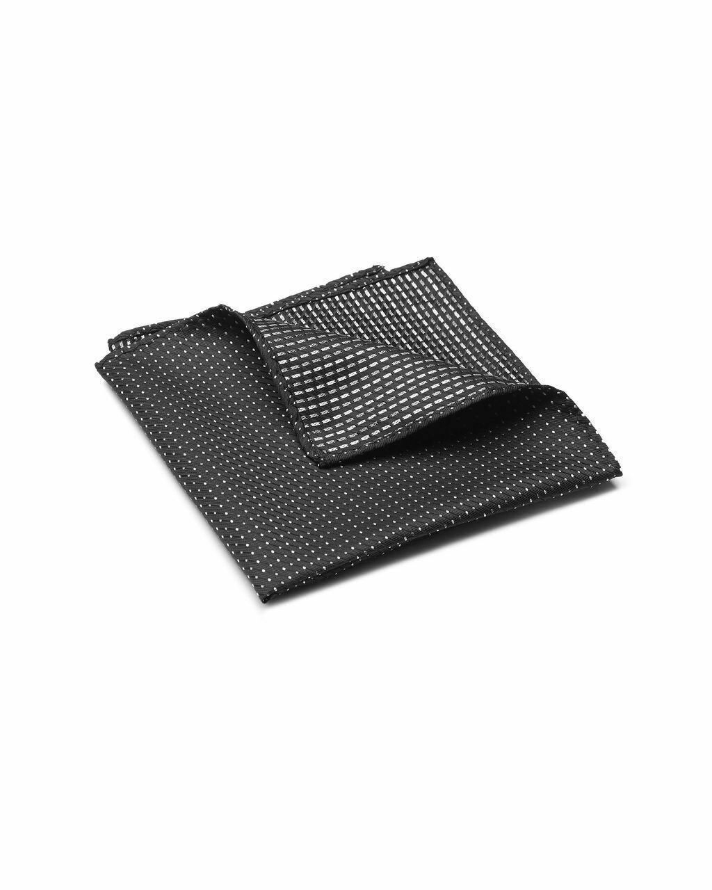 Pocket Square, Micro Dot, Black