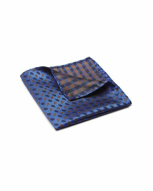Pocket Square, Paisley, Blue