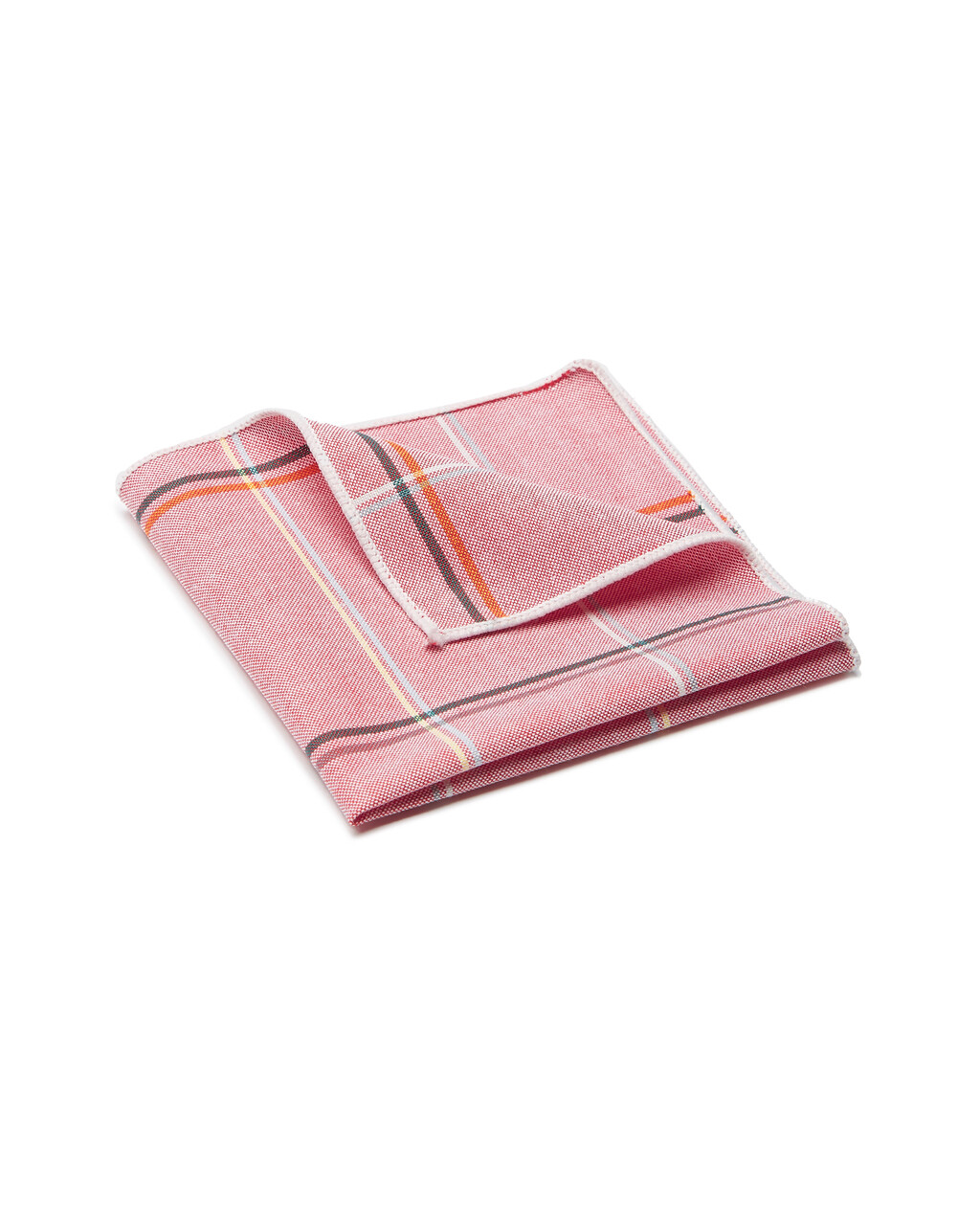 Pocket Square, Plaid, Pink