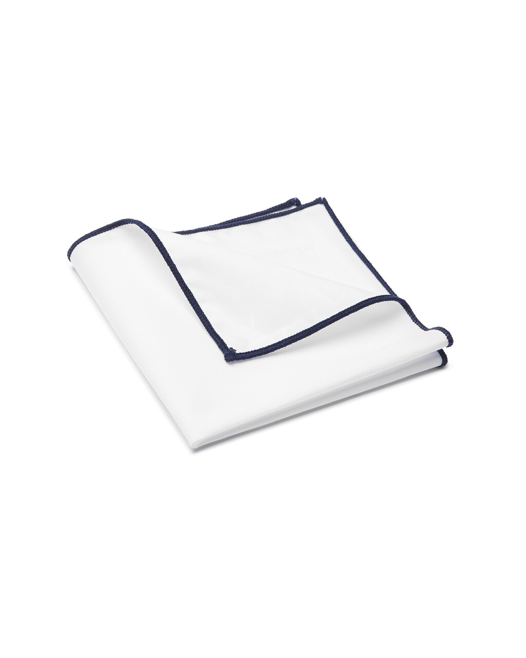 Pocket Square, Plain, White