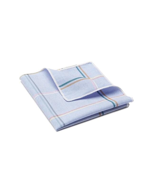 Pocket Square, Plaid, Blue