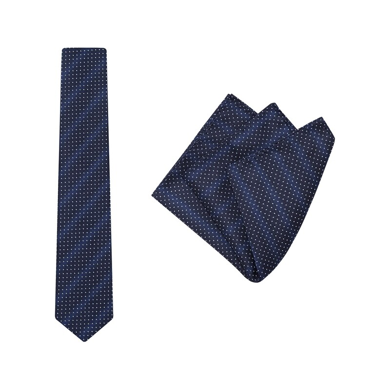 Tie + Pocket Square Set, Speck, Sky