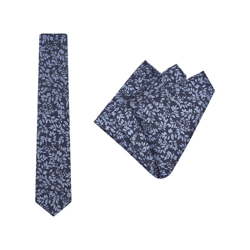 Tie + Pocket Square Set, Verde, Navy