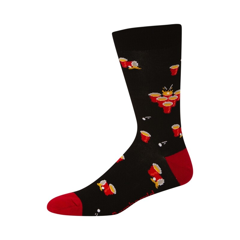 MENS BEER PONG BAMBOO SOCK