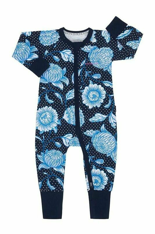 Picnic Posy Navy Zippy