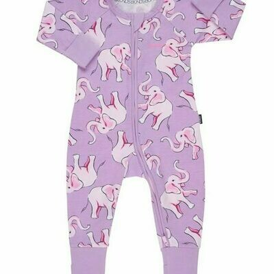 Pink Dancing Elephant Wondersuit