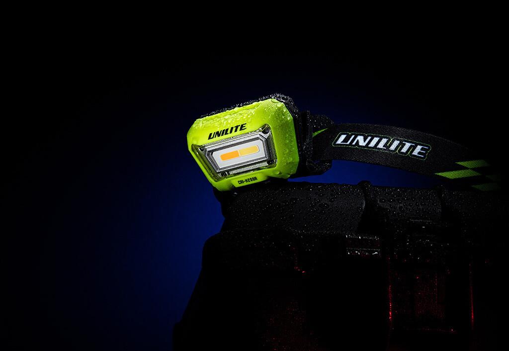 UNILITE Сенсорный налобный Фонарь, 3 цвета, 1500mAh, 200LM