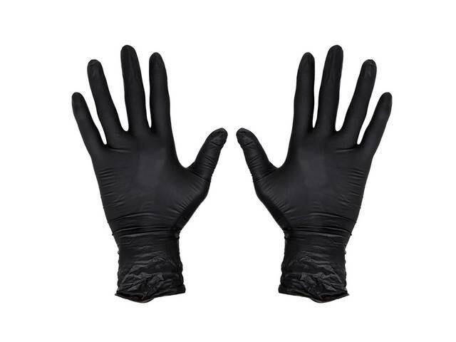 Винил-нитроловые перчатки, упаковка 100шт. размер L