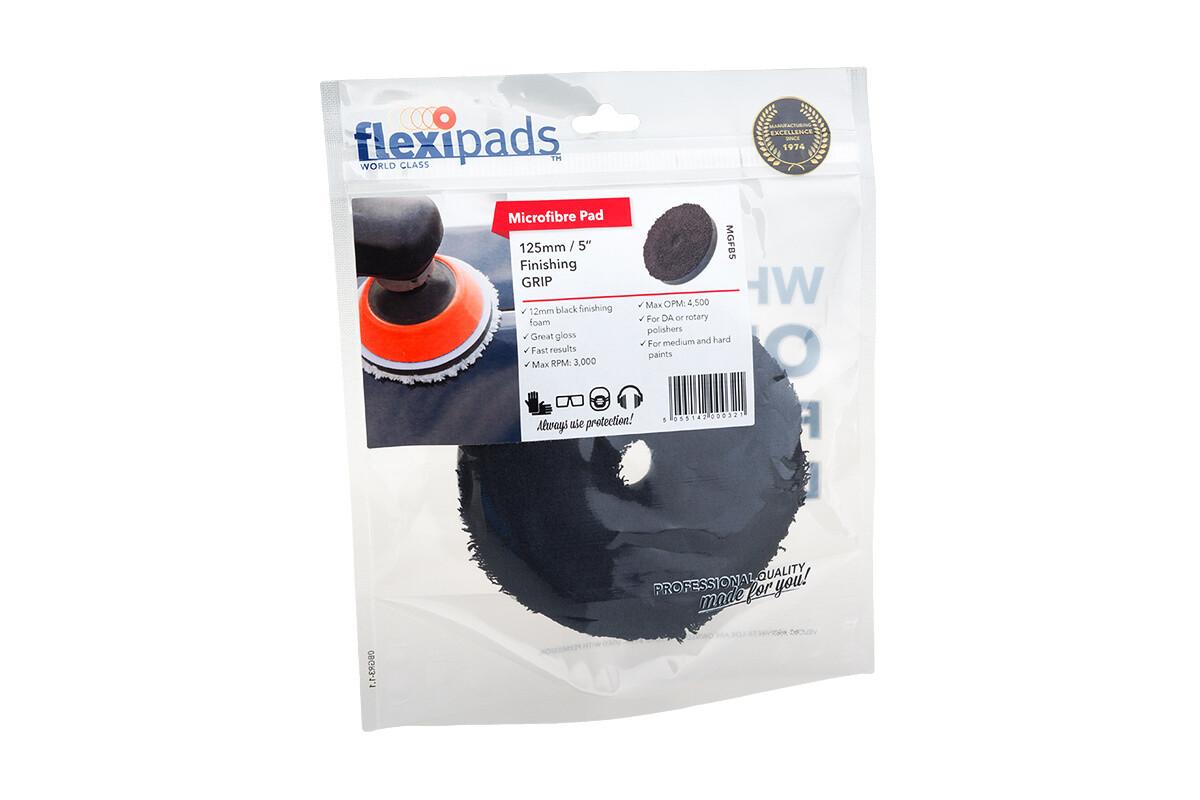 FlexiPads черный финишный микрофибровый круг 125мм premium