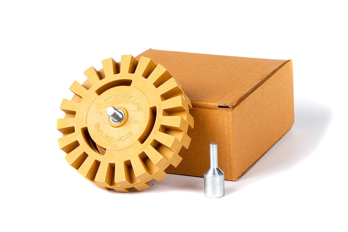 Krauss Tools - Диск зубчатый для снятия скотча с адаптером 100*25 мм