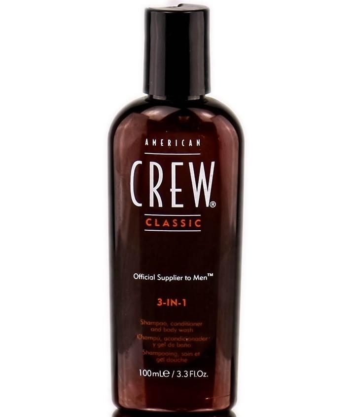 American Crew Classic 3-in-1 - Шампунь, кондиционер и гель для душа 3 в 1, 100 мл