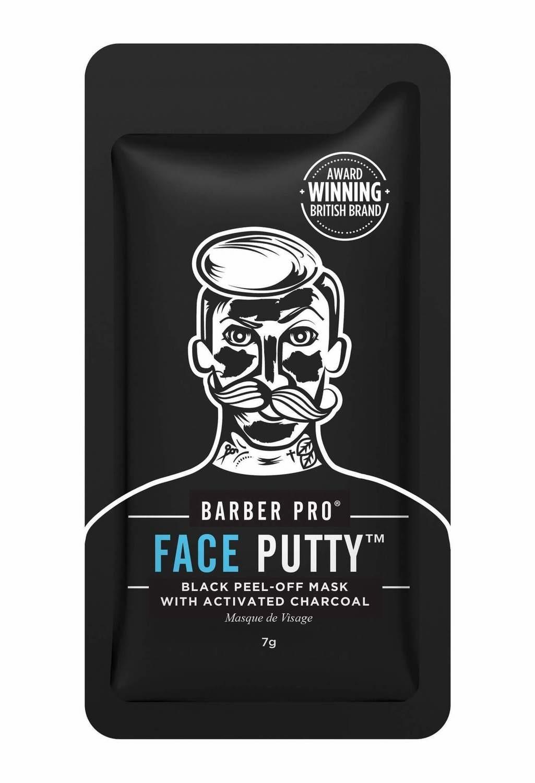 "Barber Pro ""Face Putty"" black mask / ЧЕРНАЯ ОТШЕЛУШИВАЮЩАЯ МАСКА 21мл (3 маски по 7мл)"