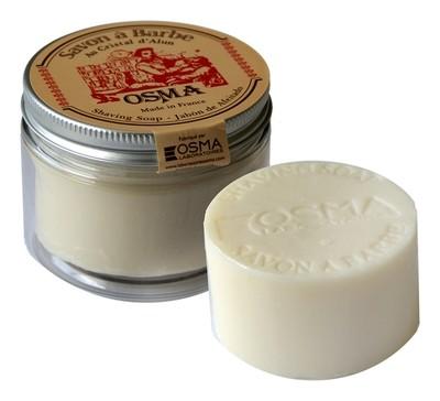 Osma Traditional Savon A Barbe - Мыло для бритья с квасцами  в стекле 100 гр