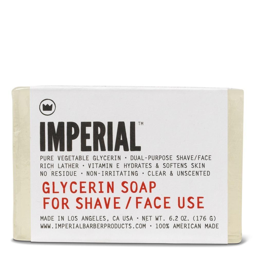 Imperial Barber Glycerin Soap For Shave / Face Use - Глицериновое мыло для бритья и умывания лица 176 гр