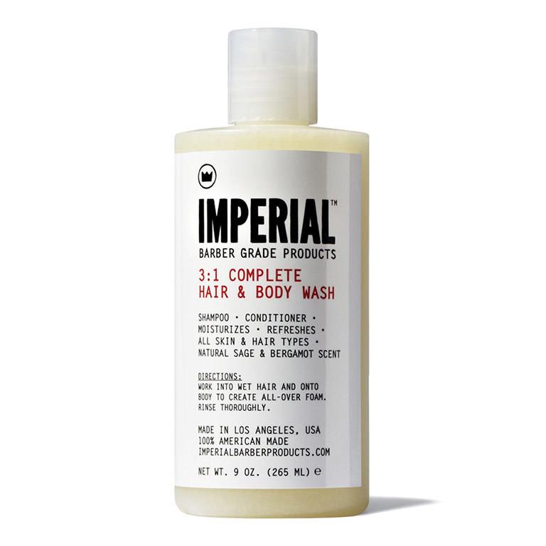 Imperial Barber 3:1 Complete Hair & Body Wash - Питательный шампунь 265 мл
