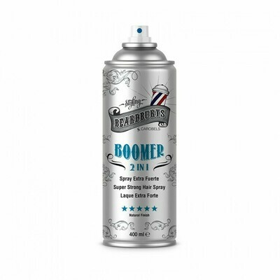 BeardBurys Boomer hair Spray - Сверхсильный лак для волос 2 в 1, 400 мл