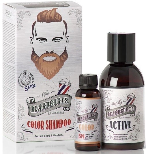 BeardBurys Light Brown Color Shampoo 5N - Красящий шампунь светло коричневый