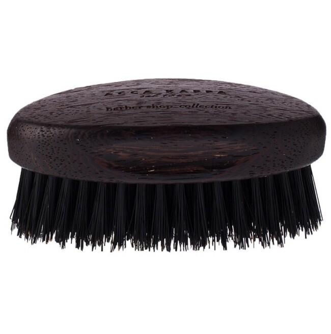 Acca Kappa Beard Brush - Щетка для бороды с основой из дерева (черная щетина)