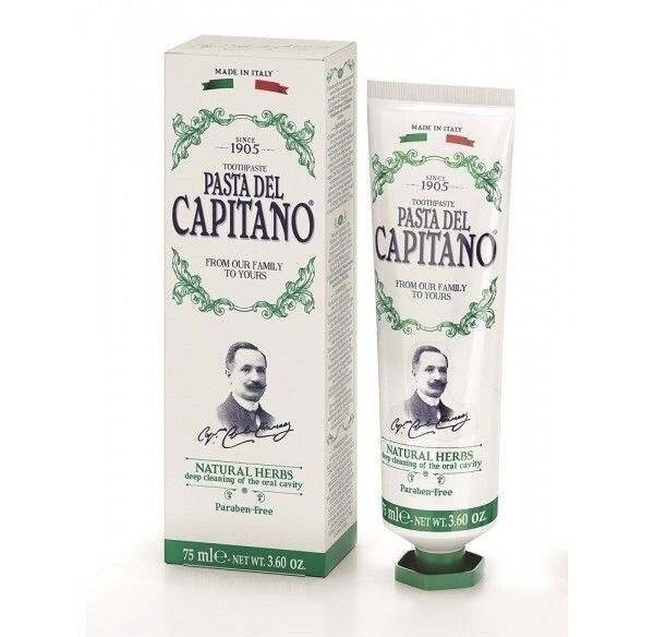 Pasta del Capitano Natural herbs - Зубная паста натуральные травы 75 мл
