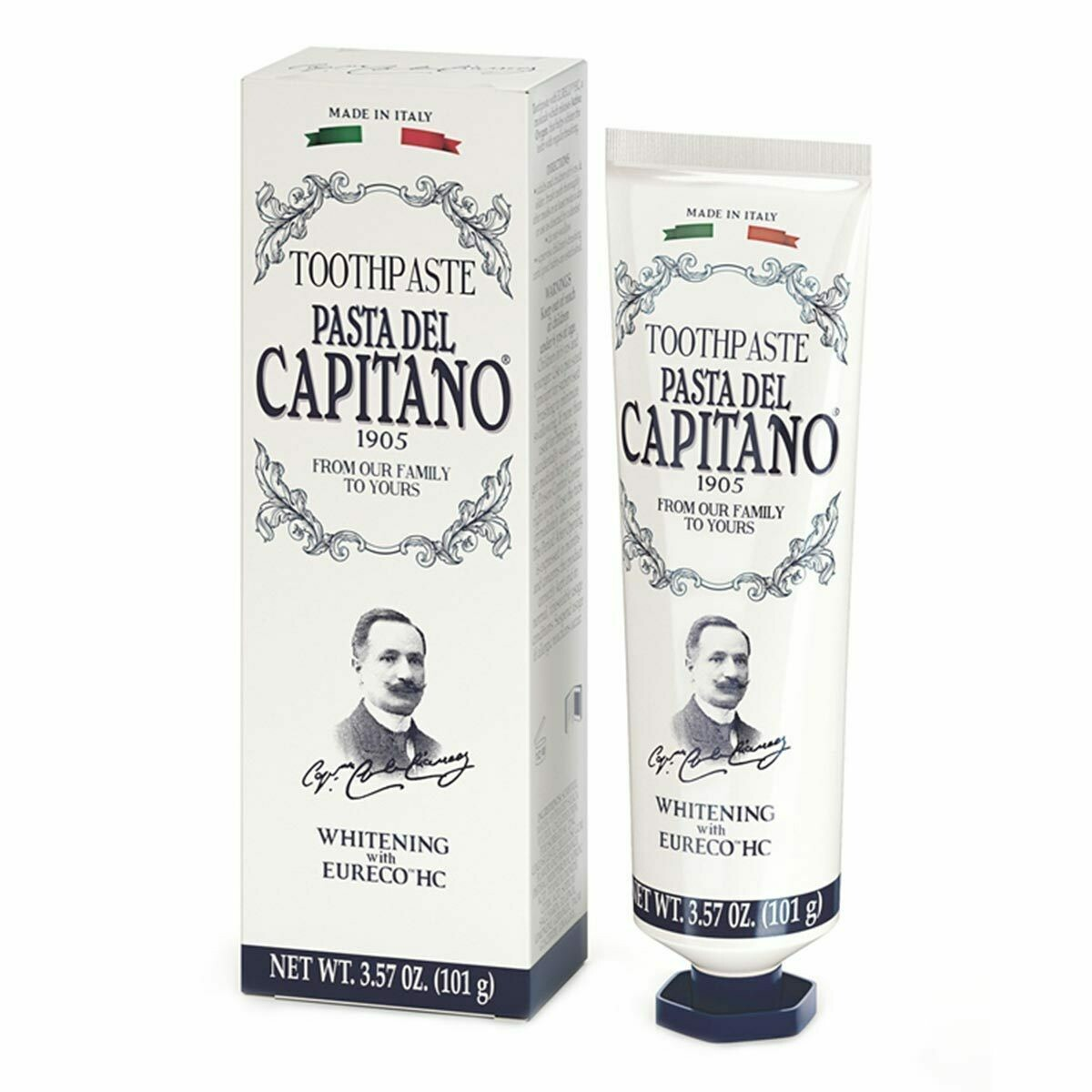 Pasta del Capitano Whitening - Зубная паста отбеливающая 75 мл