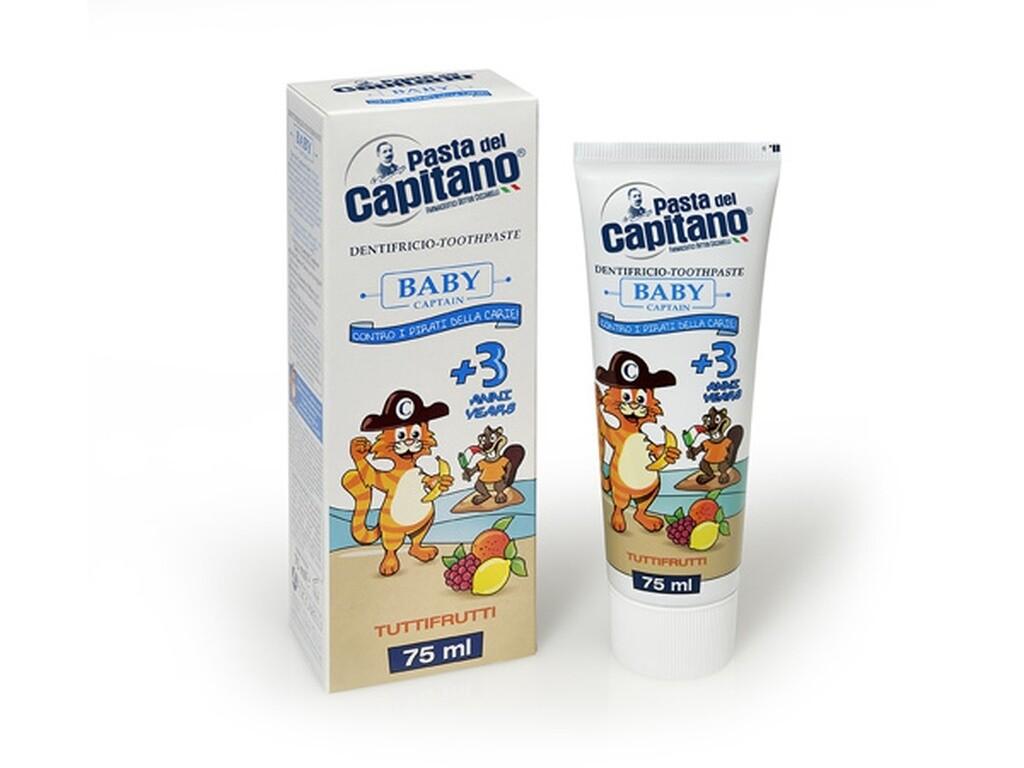 Pasta del Capitano TuttiFrutti - Зубная паста детская 75 мл