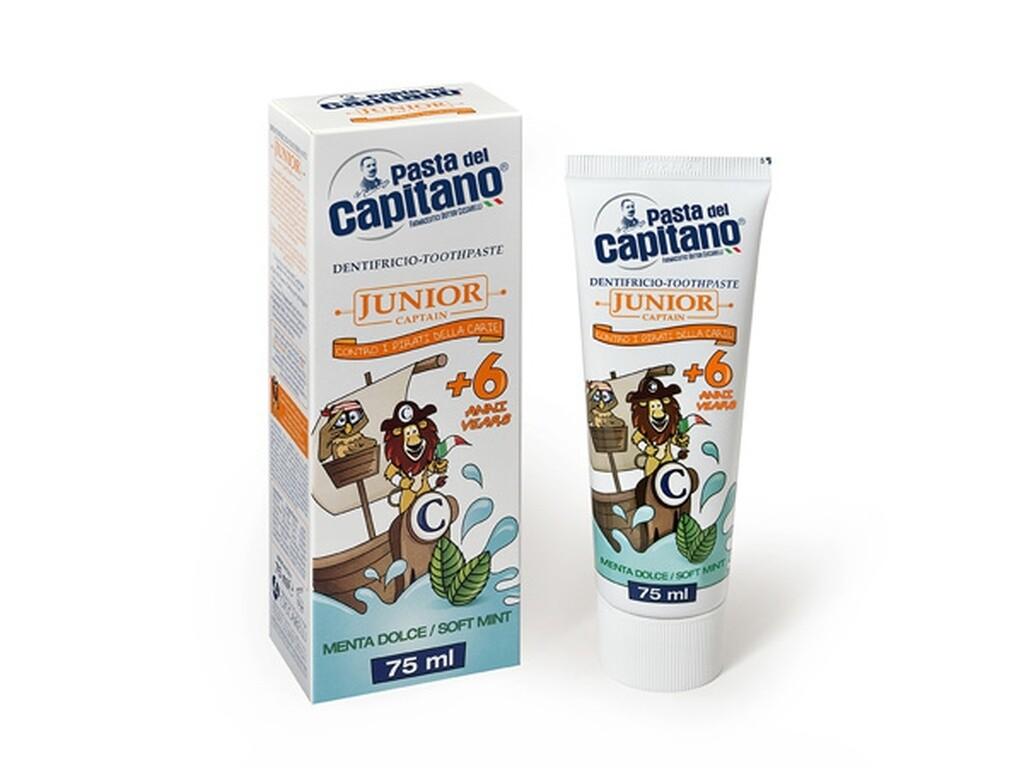 Pasta del Capitano Soft Mint - Зубная паста детская 75 мл