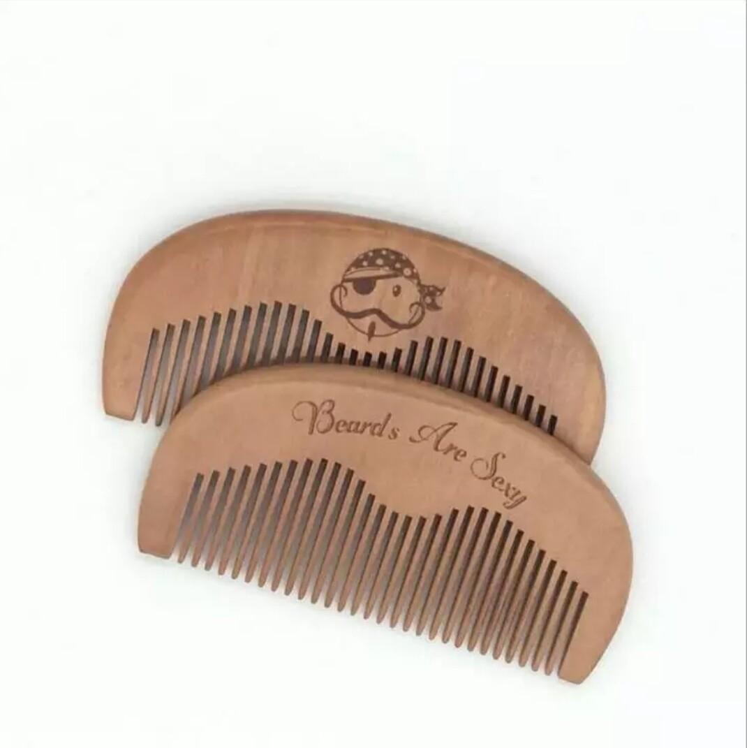 Расческа для усов и бороды, деревянная