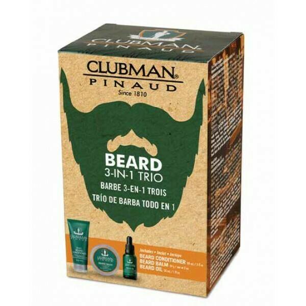 Clubman Beard 3 in 1 Trio - Подарочный набор для ухода за бородой