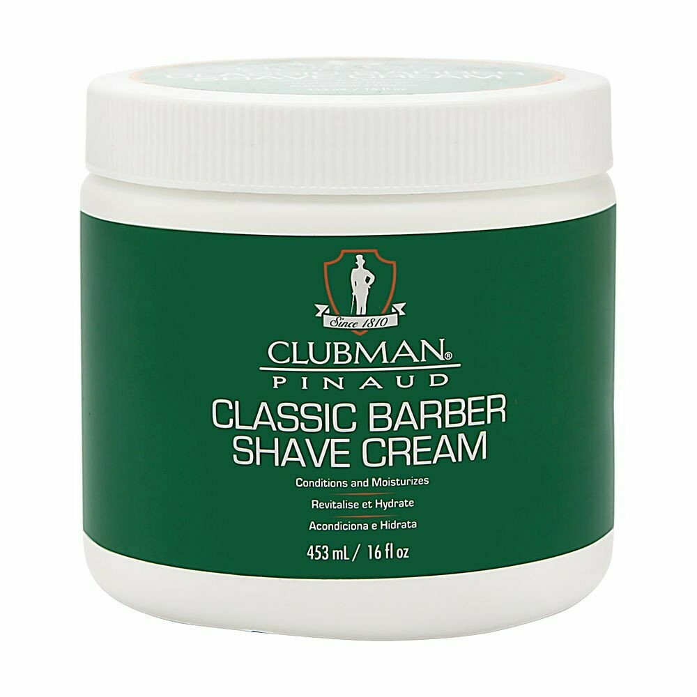 Clubman Classic Barber Shave Cream - Классический крем для бритья 453 мл