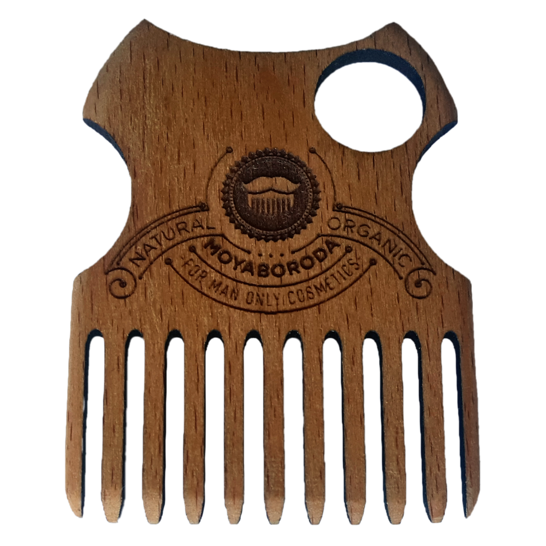 "Moyaboroda Гребень для бороды ""MB"" / Beard comb ""MB"""