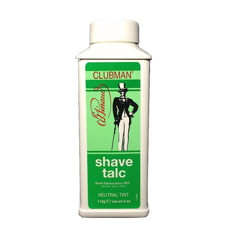 Clubman Shave Talc Neutral - Тальк после бритья, цвет - нейтральный 112 гр