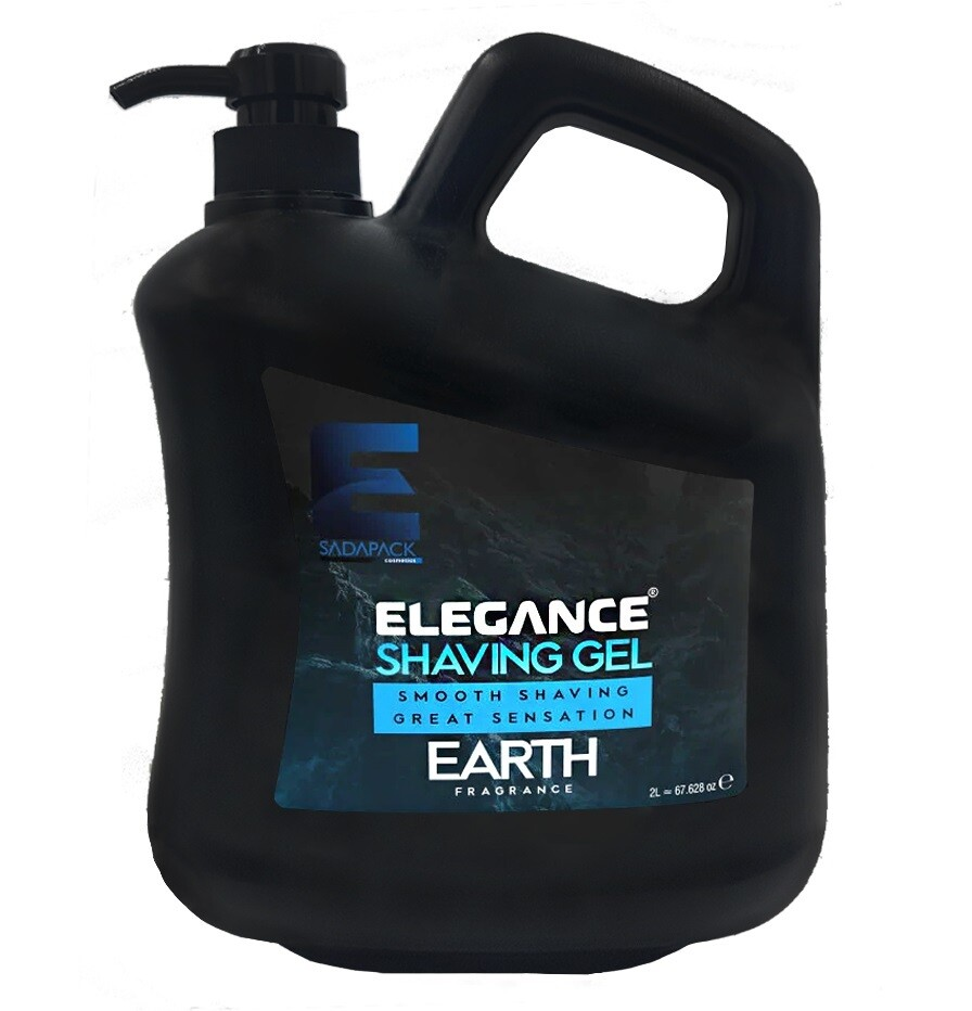 Elegance Plus Shaving Gel Earth - Гель для бритья 2000 мл