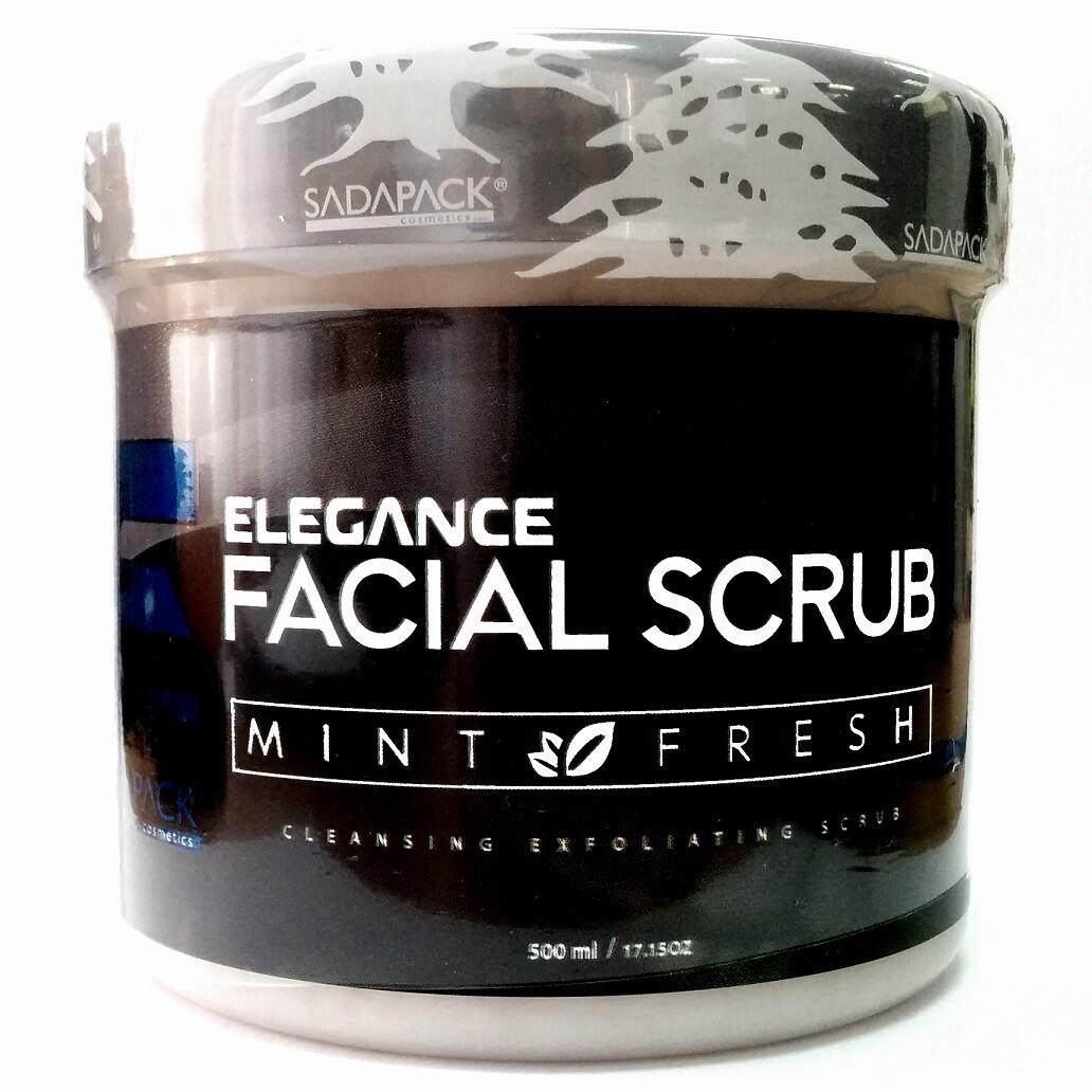 Elegance Facial Scrub Mint Intensive Refreshment - Скраб для лица Мята Освежающий 500 мл