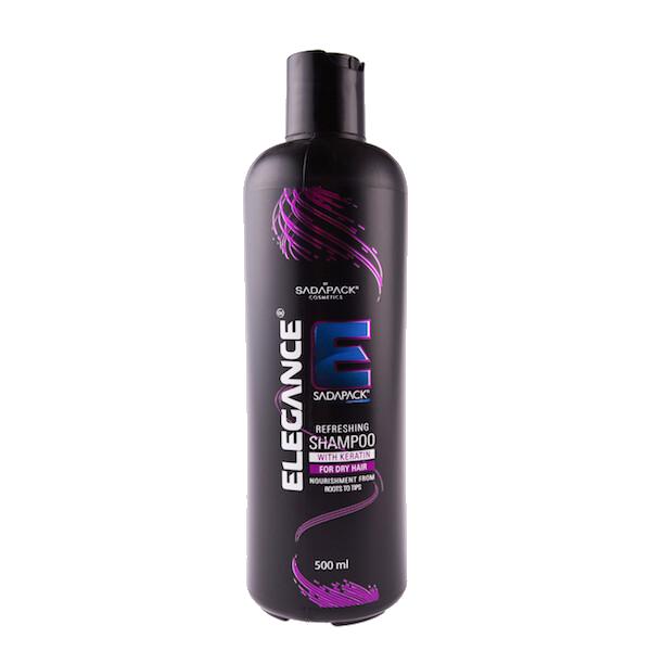Elegance Plus Keratin Shampoo Refreshing - Шампунь для сухих волос 500 мл