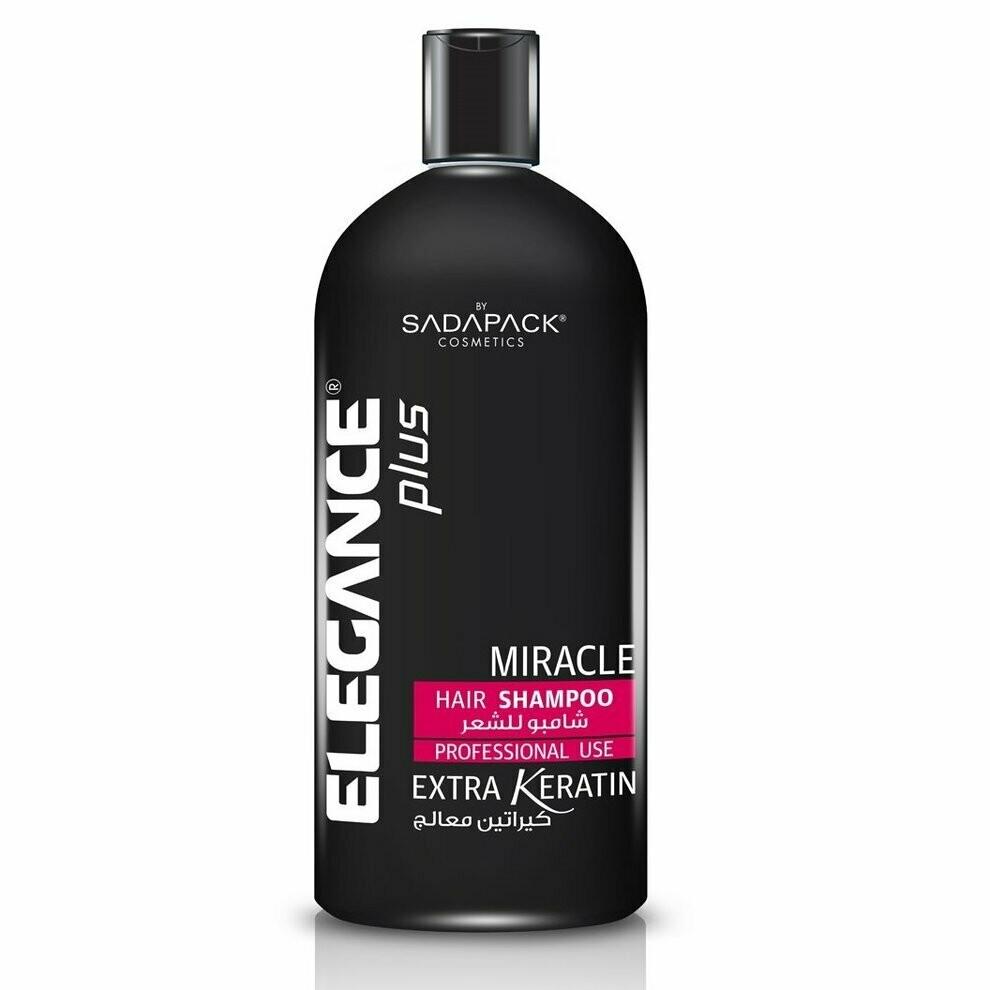 Elegance Plus Hair Shampoo White Extra Keratin - Профессиональный шампунь для волос с Кератином 1000 мл