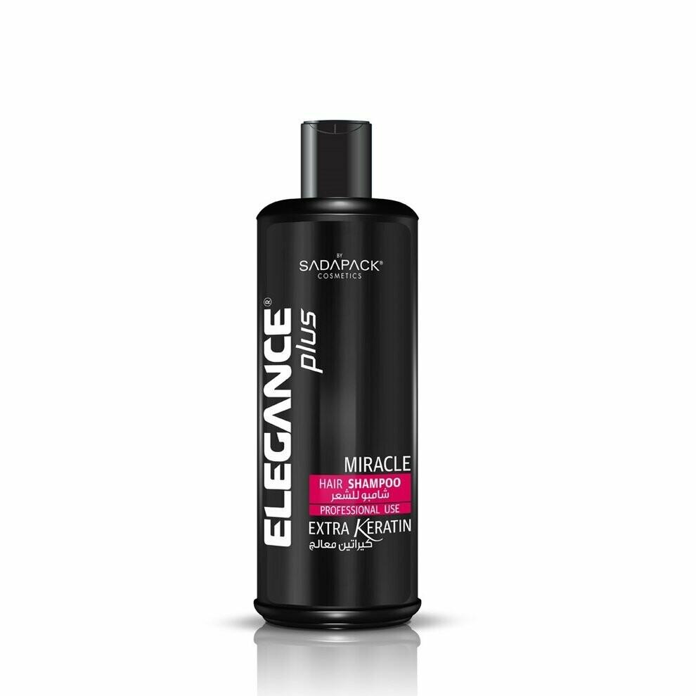 Elegance Plus Hair Shampoo White Extra Keratin - Профессиональный шампунь для волос с Кератином 500 мл