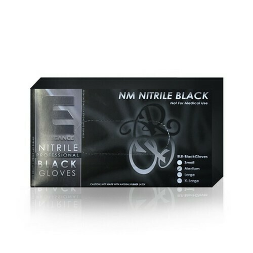 Elegance Professional Nitrile Gloves - Черные нитриловые перчатки 100 штук размер M
