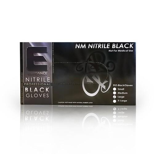 Elegance Professional Nitrile Gloves - Черные нитриловые перчатки 100 штук размер L