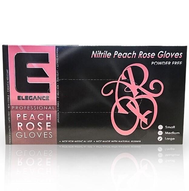 Elegance Professional Nitrile Gloves Peach Rose - Розовые нитриловые перчатки 100 штук размер L