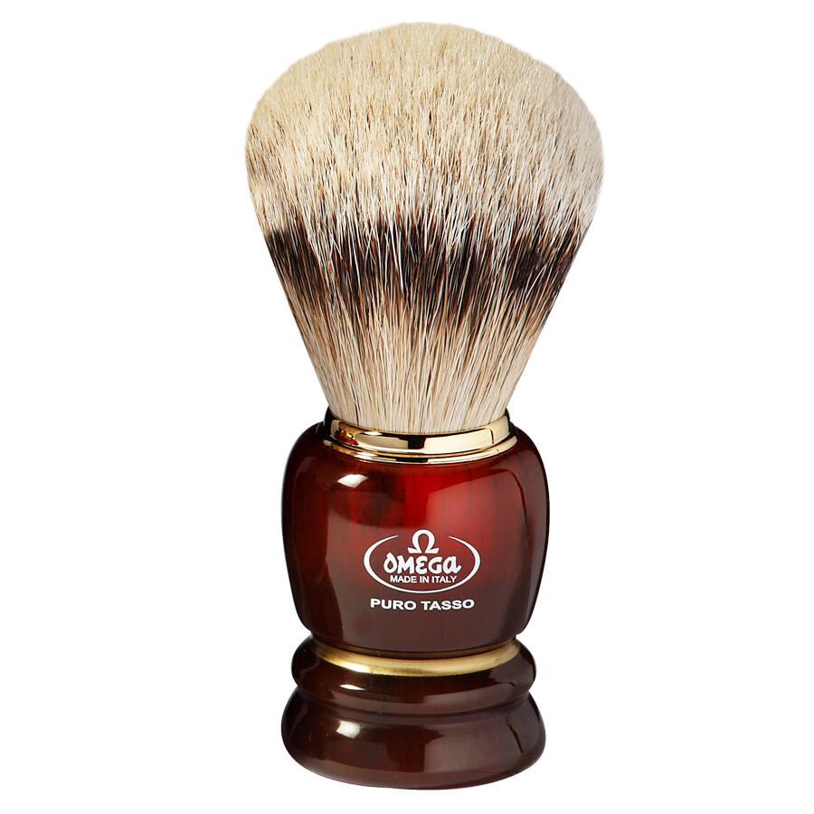 Omega 639 - Помазок для бритья Серебристый барсук 114мм