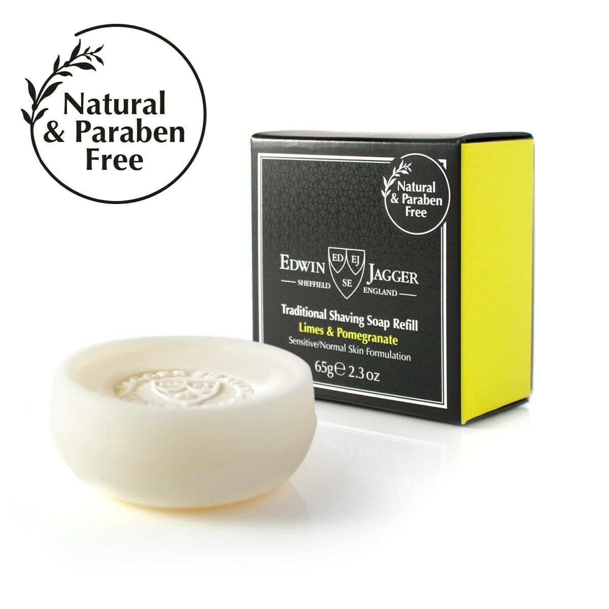 Мыло для бритья Edwin Jagger Limes & Pomegranate 65 гр