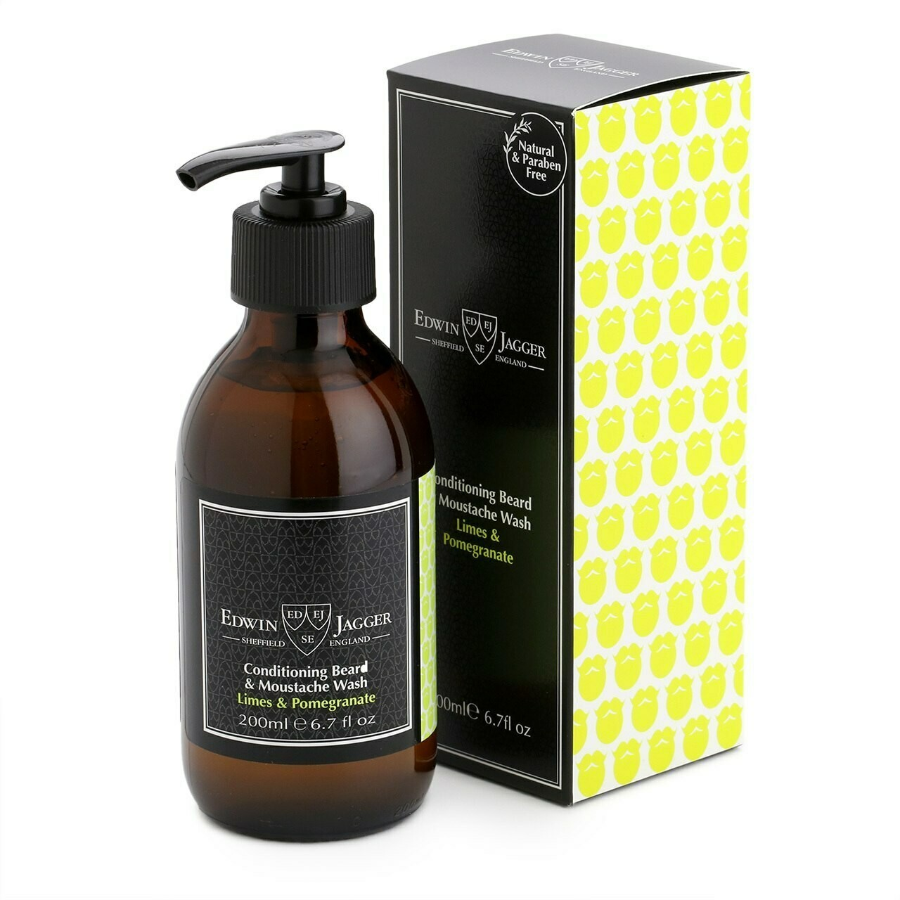 Шампунь для бороды и усов Edwin Jagger Limes & Pomegranate Beard Shampoo - 200 мл