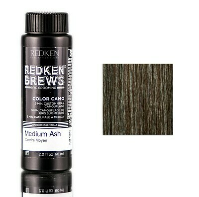 Redken Brews Medium Ash - Камуфляж Седины Средний Пепельный 60 мл