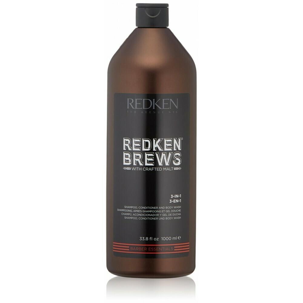Redken Brews 3 in 1 - Шампунь Кондиционер и Гель для Душа 1000 мл