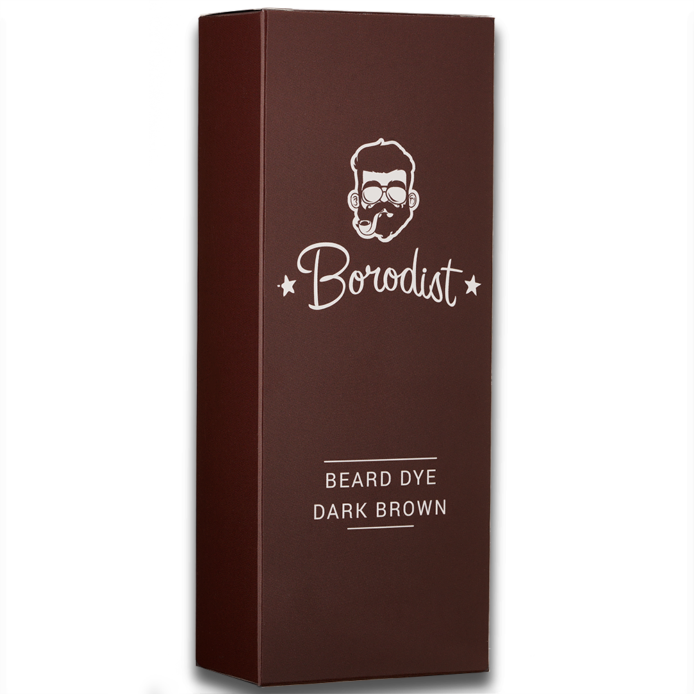 Borodist Beard Dye Dark Brown - Краска для бороды темно-коричневая 50г