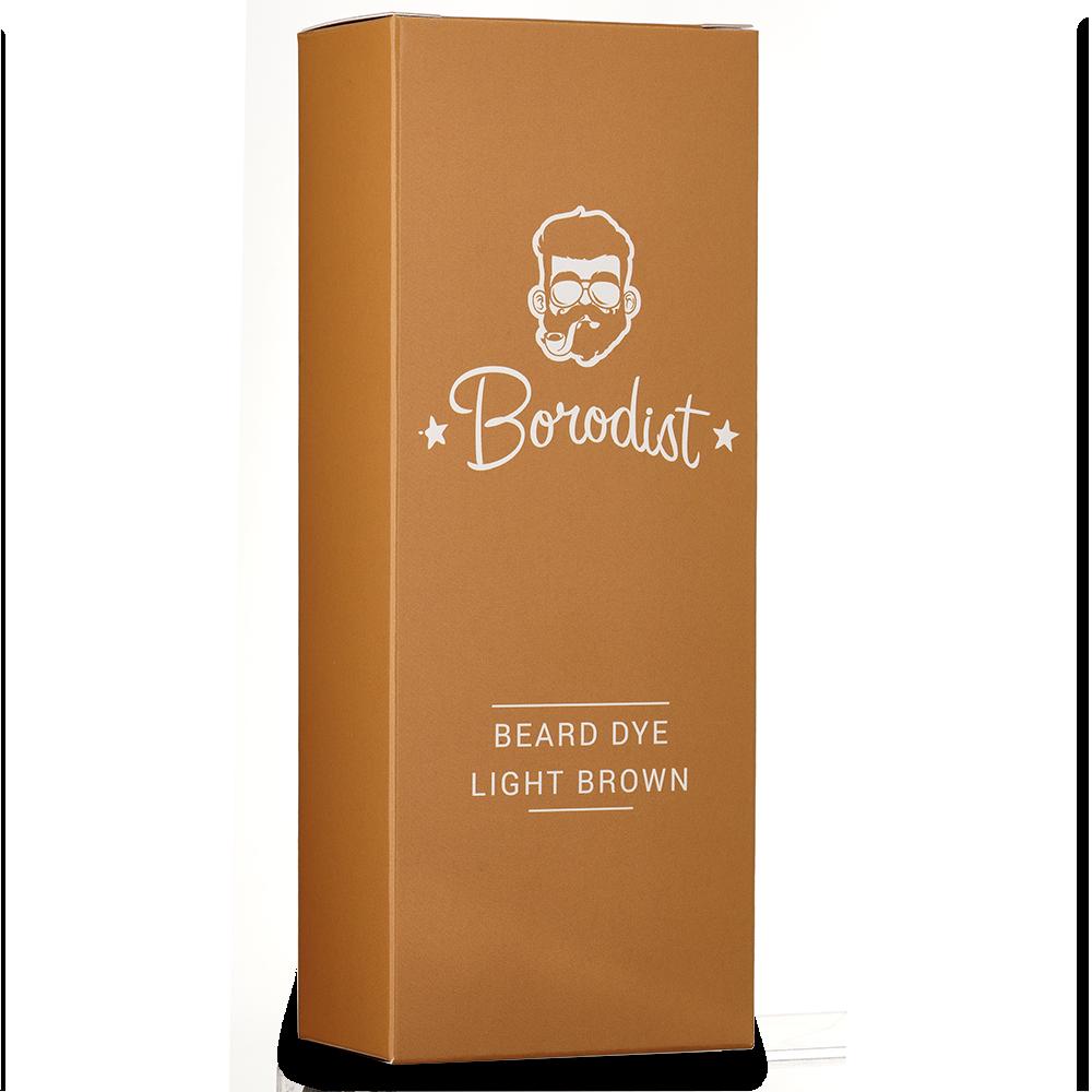 Borodist Beard Dye Light Brown - Краска для бороды коричневая 50г