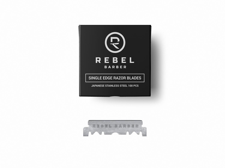 REBEL BARBER Single Blade - Сменные лезвия для опасных бритв  100 шт.