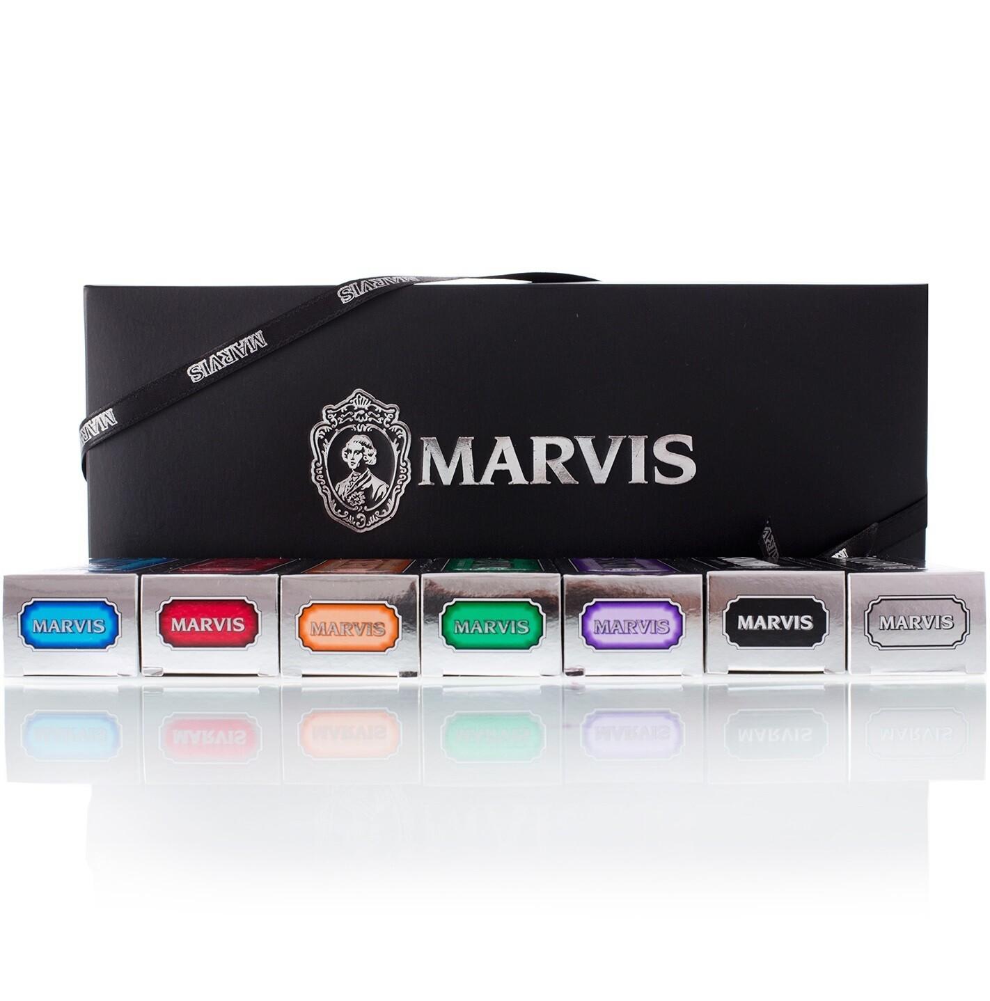 Marvis Gift Set Black - Подарочный набор из 7 зубных паст по 25 мл